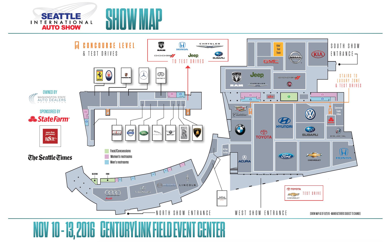Floor Plan Seattle International Auto Show