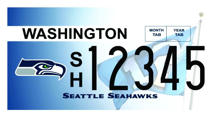Seahawks plate